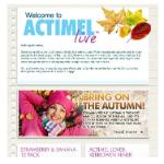 Actimel Live e-newsletter